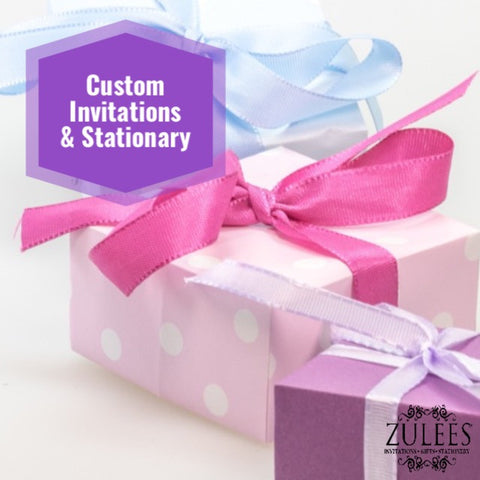 Custom Invitations, Stationery and Announcements