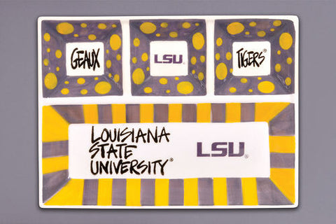LSU 4 Section Platter