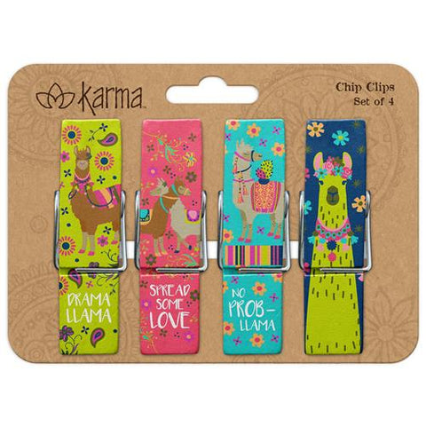 Llama Chip Clips - Set of 4