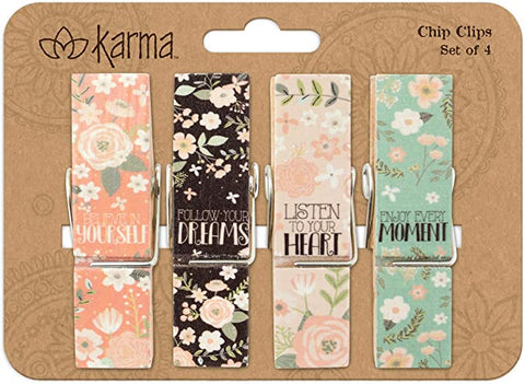 Flower Chip Clips - Set of 4