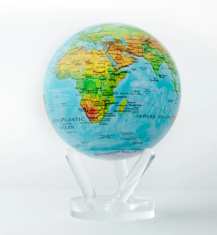 "Blue Ocean Relief Map MOVA Globe 6"" with Acrylic Base"
