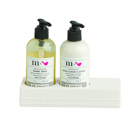 NORA FLEMING MELAMINE SOAP & LOTION SET