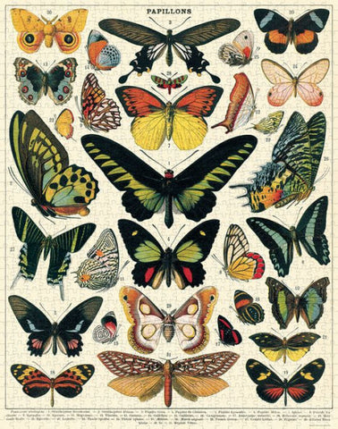 Cavallini & Co. Butterflies 1000 Piece Puzzle