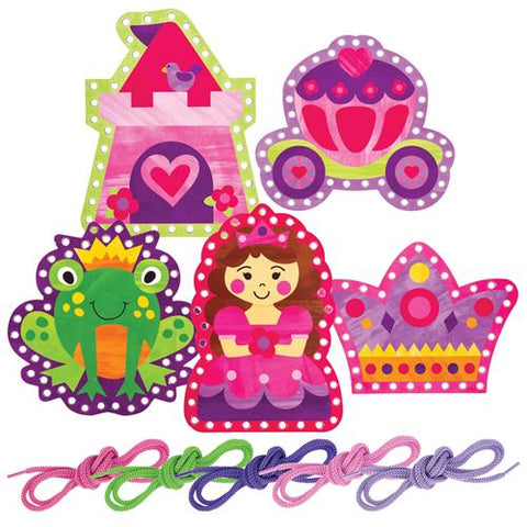 Princess/Castle Lacing Cards