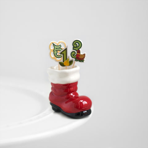 Nora Fleming Santa Boot Mini