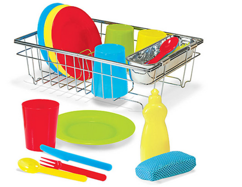 Let's Play House! Wash & Dry Dish Set