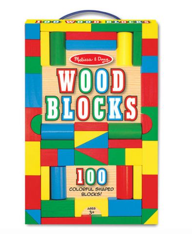 100 Piece Wood Blocks Set