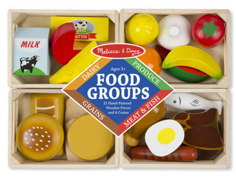 Melissa and Doug Food Groups Wooden Play Food