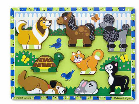 Melissa & Doug Busy Pets Chunky Puzzle