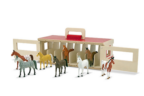 Melissa & Doug Take Along Show Horse Stable