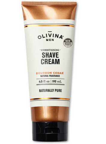 Olivina Conditioning Shave Cream- Bourbon Cedar 2 .5fl oz.