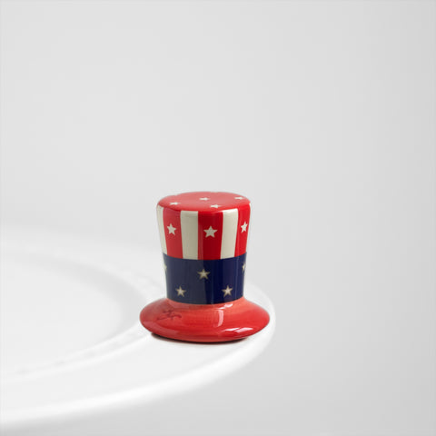Nora Fleming Uncle Sam Hat Mini (Home of the Free)
