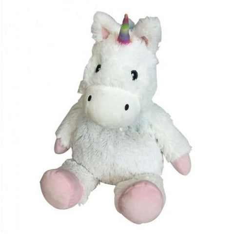 WARMIES JUNIOR- WHITE UNICORN - Cozy Plush Heatable Lavender Scented Stuffed Animal