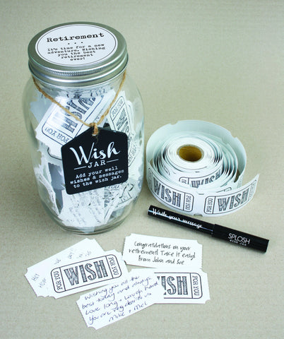 Top Shelf Retirement Wish Jar