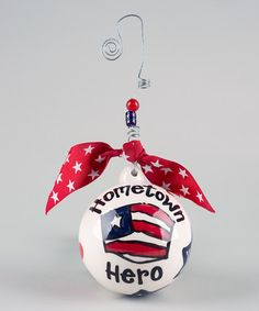 Glory Haus Hometown Hero Ceramic Ornament