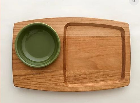 Wood Appetizer board with bowl