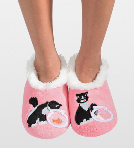Women's Splitz Design Snoozies! - Cat and Fish Bowl