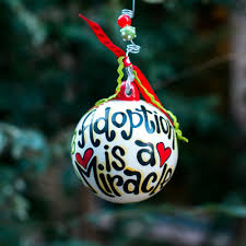 Glory Haus Adoption Ceramic Ornament
