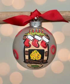 Glory Haus Fireplace Glass Ornament