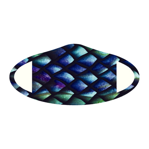 Face Mask Polyester & Spandex Blend - Fish