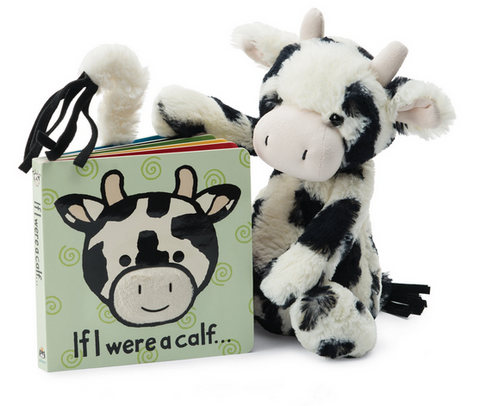 If I Were a Calf Book **Retired** + Bashful Calf Medium BUNDLE