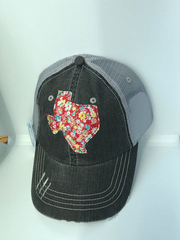 Texas Distressed Trucker Hat