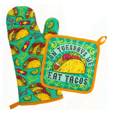 Taco Tuesdays Pot Holder & Mit