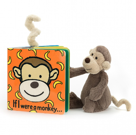 If I Were a Monkey Book + Bashful Monkey BUNDLE
