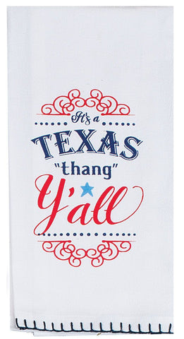 It's A Texas Thang Y'all Cotton Krinkle Flour Sack Kitchen Towel 18x26 from Kay Dee Designs