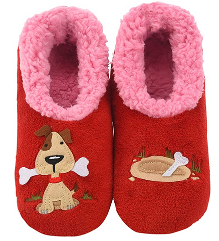 Women's Splitz Design Snoozies! - Dog with Bone