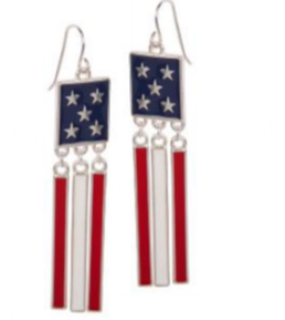 USA Flag Stars Bars Earrings