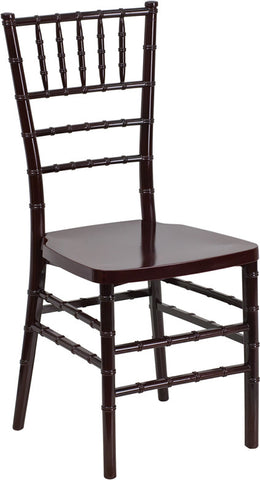 Stacking Chiavari Mahogany Resin Party Chair