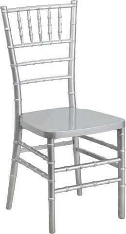 Stacking Chiavari Silver Resin Party Chair