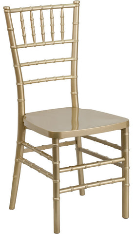 Stacking Chiavari Gold Resin Party Chair
