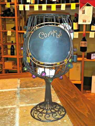 Cork Cage - Wine glass w/chalkboard