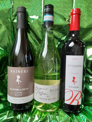 3 wine bottle and olive oil Gift Basket - Italy