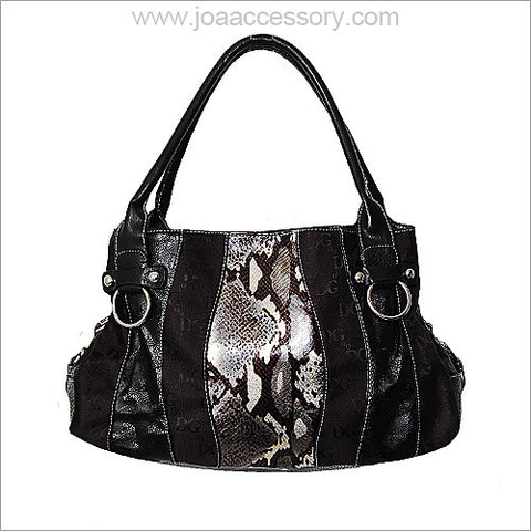 Synthetic Snake Skin Handbag - All That Glitters