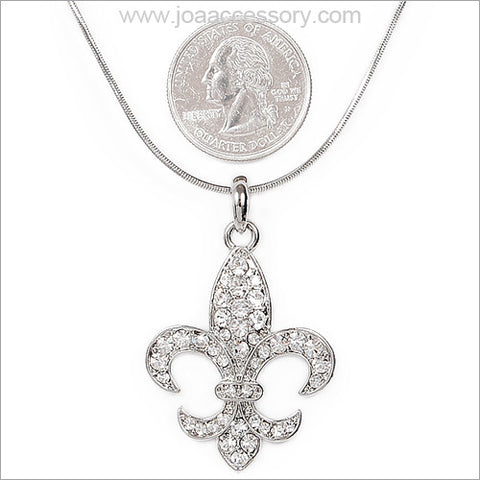 Fleur De Lis Necklace - All That Glitters