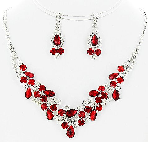 Rhinestone Necklace Set - All That Glitters - 1