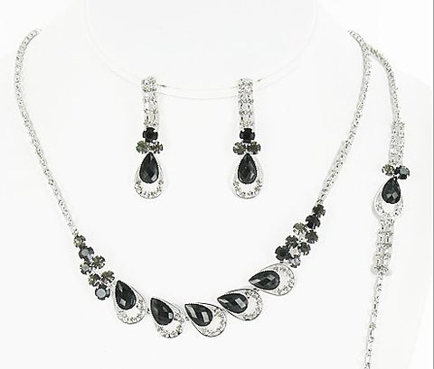 Rhinestone Necklace Set - All That Glitters