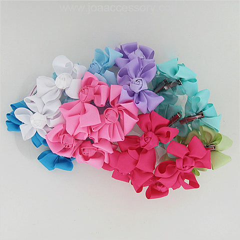 Flower Hair Bow Set - All That Glitters - 1