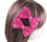Sequin Hair Bow Set - All That Glitters - 1