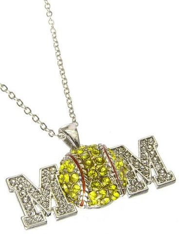 Softball Mom Necklace - All That Glitters