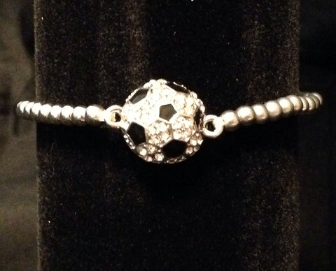 Rhinestone Soccer Bracelet - All That Glitters