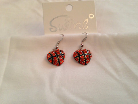Basketball Hearts Earrings - All That Glitters