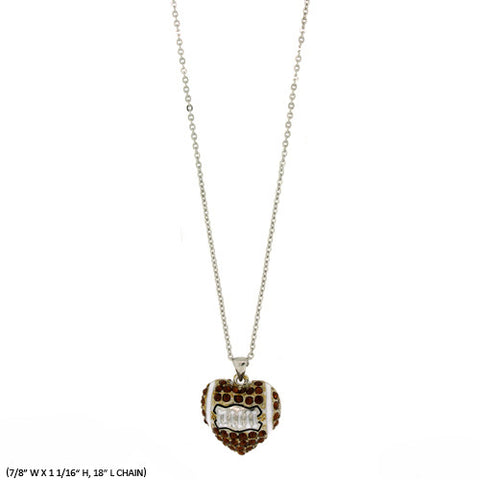 Football Heart Necklace - All That Glitters