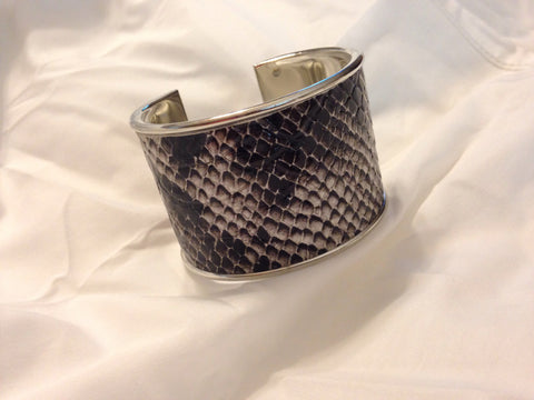 Python Covered Metal Cuff - All That Glitters