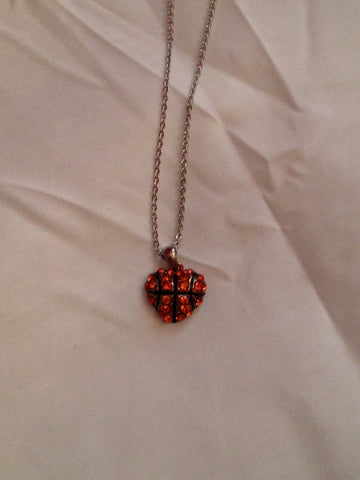 Basketball Heart Necklace - All That Glitters