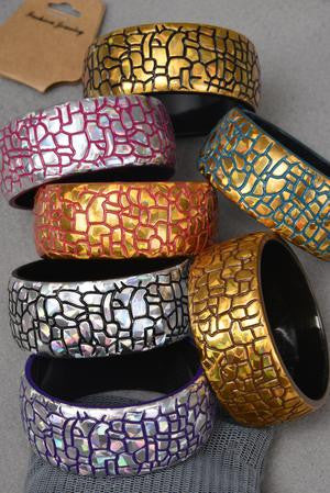 Acrylic Lazar Print Bangle - All That Glitters