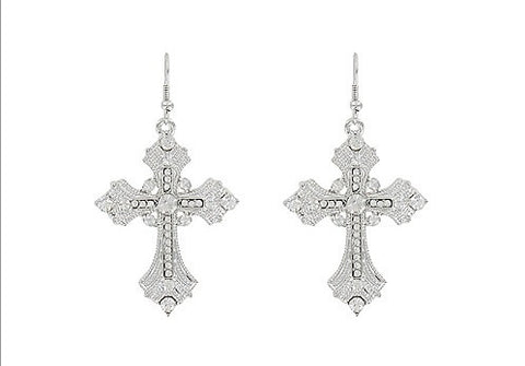 Cross Earrings - All That Glitters